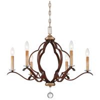 Minka-Lavery 4836-690 Ava Libertine 6 Light 27 inch Pale Gold/Distressed Bron Chandelier Ceiling Light