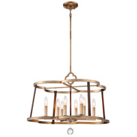 Minka-Lavery 4838-690 Ava Libertine 8 Light 26 inch Pale Gold with Distressed Bronze Chandelier Ceiling Light