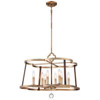 Minka-Lavery 4838-690 Ava Libertine 8 Light 26 inch Pale Gold/Distressed Bron Chandelier Ceiling Light