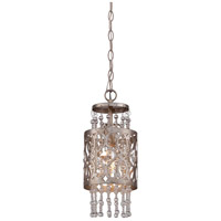 Lucero 1 Light 6 inch Florentine Silver Mini Pendant Ceiling Light