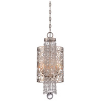 Lucero 4 Light 9 inch Florentine Silver Mini Pendant Ceiling Light