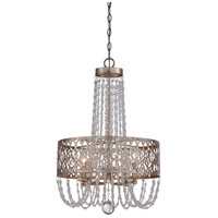 Lucero 4 Light 19 inch Florentine Silver Chandelier Ceiling Light