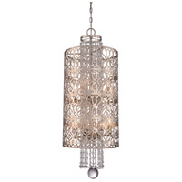 Lucero 8 Light 14 inch Florentine Silver Pendant Ceiling Light