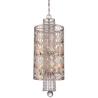 Lucero 8 Light 14 inch Florentine Silver Foyer Pendant Ceiling Light