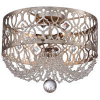 Lucero 4 Light 16 inch Florentine Silver Semi Flush Mount Ceiling Light