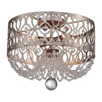 Minka-Lavery Lucero 4 Light Flush Mount in Florentine Silver 4847-276