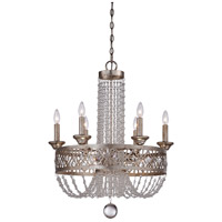 Lucero 9 Light 24 inch Florentine Silver Chandelier Ceiling Light