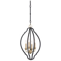 Minka-Lavery 4852-686 Wyndmere 4 Light 14 inch Sand Black/Gold Highlight Foyer Pendant Ceiling Light