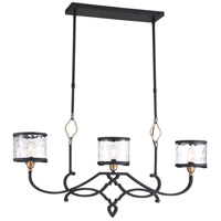 Minka-Lavery 4853-686 Wyndmere 3 Light 37 inch Sand Black with Gold Island Light Ceiling Light