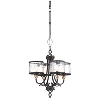 Minka-Lavery 4854-686 Wyndmere 4 Light 18 inch Sand Black with Gold Chandelier Ceiling Light
