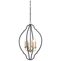 Minka-Lavery 4855-686 Wyndmere 6 Light 20 inch Sand Black with Gold Foyer Pendant Ceiling Light