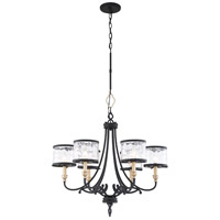 Minka-Lavery 4856-686 Wyndmere 6 Light 28 inch Sand Black with Gold Chandelier Ceiling Light