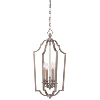 Minka-Lavery Wellington Ave 4 Light Foyer Pendant in Midnight Gold 4864-279
