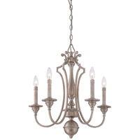 Wellington Ave 5 Light 22 inch Midnight Gold Chandelier Ceiling Light