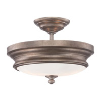Minka-Lavery Wellington Ave 2 Light Semi-Flush Mount in Midnight Gold 4867-279