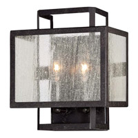 Minka-Lavery Camden Square 2 Light Wall Sconce in Aged Charcoal 4870-283