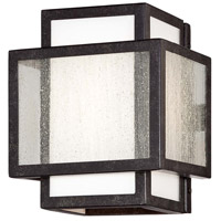 Camden Square 1 Light 7 inch Aged Charcoal Bath Bar Wall Light