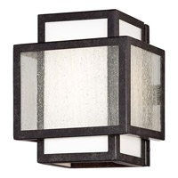 Minka-Lavery Camden Square 1 Light Bath Vanity Light in Aged Charcoal 4871-283