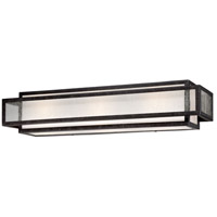 Camden Square 3 Light 24 inch Aged Charcoal Bath Bar Wall Light