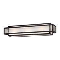 Minka-Lavery Camden Square 3 Light Vanity Light in Aged Charcoal 4873-283