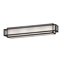 Minka-Lavery Camden Square 4 Light Vanity Light in Aged Charcoal 4874-283