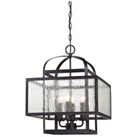 Minka-Lavery 4875-283 Camden Square 4 Light 16 inch Aged Charcoal Mini Chandelier Ceiling Light