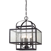 Minka-Lavery Camden Square 4 Light Chandelier in Aged Charcoal 4875-283