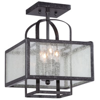 Minka-Lavery 4876-283 Camden Square 4 Light 11 inch Aged Charcoal Semi-Flush Mount Ceiling Light