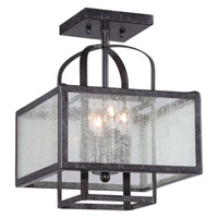 Minka-Lavery Camden Square 4 Light Semi-Flush Mount in Aged Charcoal 4876-283