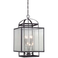 Minka-Lavery Camden Square 8 Light Foyer Pendant in Aged Charcoal 4877-283