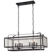 Minka-Lavery 4878-283 Camden Square 8 Light 32 inch Aged Charcoal Island Light Ceiling Light