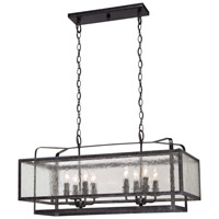 Minka-Lavery Camden Square 8 Light Island Light in Aged Charcoal 4878-283