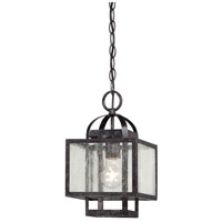 Minka-Lavery 4879-283 Camden Square 1 Light 8 inch Aged Charcoal Mini Pendant Ceiling Light