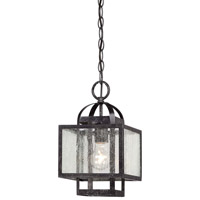 Minka-Lavery Camden Square 1 Light Mini Pendant in Aged Charcoal 4879-283