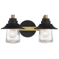 Minka-Lavery 4892-685 Westfield Manor 2 Light 16 inch Sand Coal/Soft Brass Bath Light Wall Light