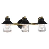 Minka-Lavery 4893-685 Westfeild Manor 3 Light 25 inch Sand Coal/Soft Brass Bath Light Wall Light
