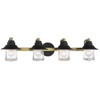 Minka-Lavery 4894-685 Westfield Manor 4 Light 34 inch Sand Coal/Soft Brass Bath Light Wall Light