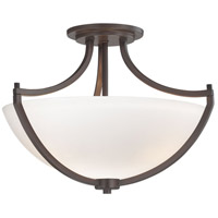 Middlebrook 3 Light 17 inch Vintage Bronze Semi Flush Mount Ceiling Light