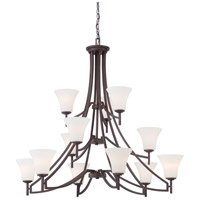 Minka Lavery Middlebrook 12 Light Chandelier in Vintage Bronze 4938-284