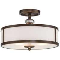 Thorndale 3 Light 15 inch Dark Noble Bronze Semi Flush Mount Ceiling Light