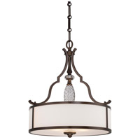 Minka-Lavery Thorndale 3 Light Pendant in Dark Noble Bronze 4944-570