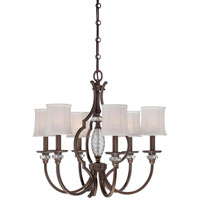 Minka-Lavery Thorndale 6 Light Chandelier in Dark Noble Bronze 4946-570