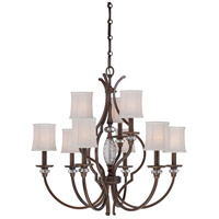 Minka-Lavery Thorndale 9 Light Chandelier in Dark Noble Bronze 4949-570