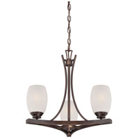 City Club 3 Light 18 inch Dark Brushed Bronze Painted Mini Chandelier Ceiling Light