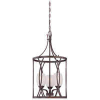 Minka-Lavery City Club 3 Light Foyer Pendant in Dark Brushed Bronze 4954-267B