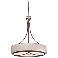 City Club 3 Light 22 inch Dark Brushed Bronze Painted Pendant Ceiling Light