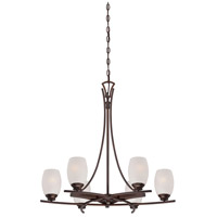 City Club 6 Light 28 inch Dark Brushed Bronze Painted Chandelier Ceiling Light