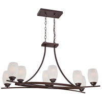 City Club 8 Light 36 inch Dark Brushed Bronze Painted Island Light Ceiling Light