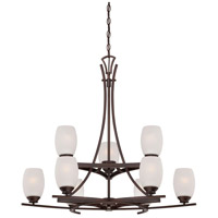 City Club 9 Light 32 inch Dark Brushed Bronze Painted Chandelier Ceiling Light