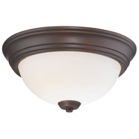 Minka-Lavery 4960-284 Overland Park 2 Light 13 inch Vintage Bronze Flush Mount Ceiling Light